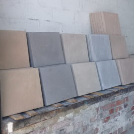 Different color paving slabs