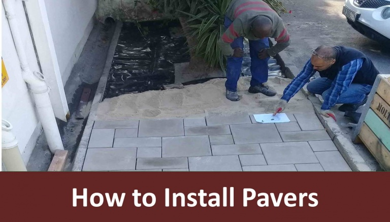 How are pavers installed