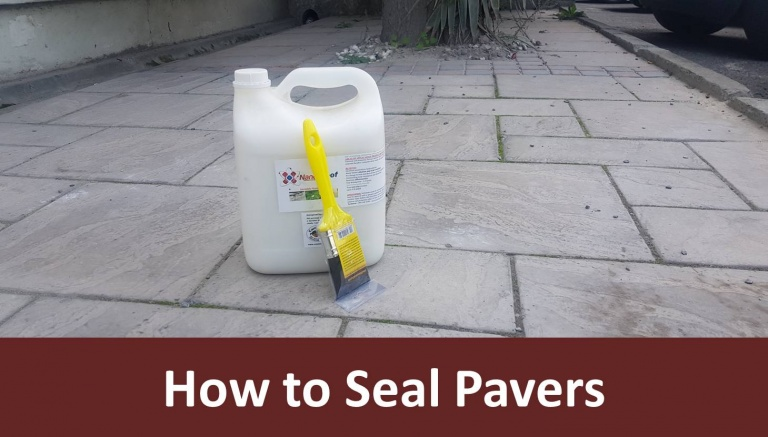 How can one seal paving slabs