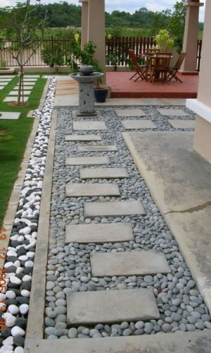 Stepping stone paving